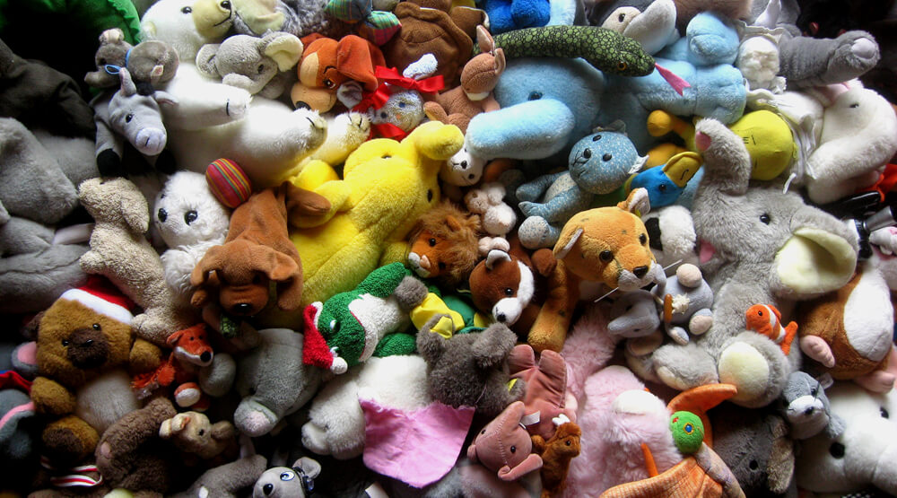 A Large Pile of Stuffed Animals