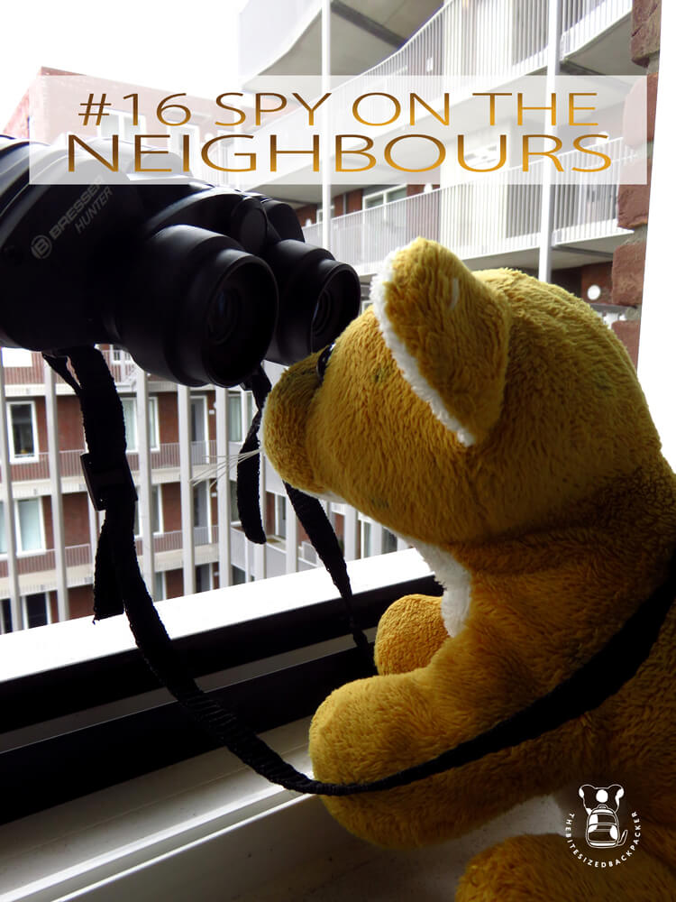 Things to do during Coronavirus lockdown 16 - Spy on the neighbours