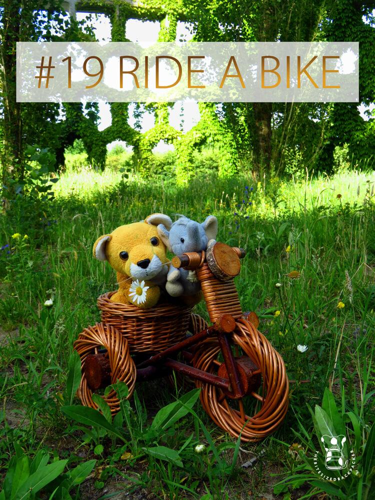Things to do during Coronavirus lockdown 19 - Ride a bike