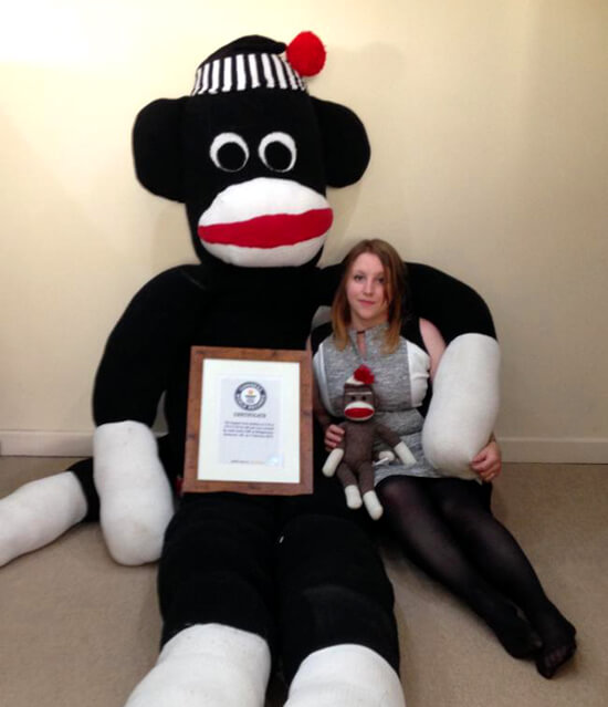 The largest sock monkey in the world