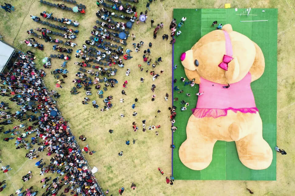 The largest teddy bear in the world