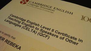 CELTA-certificate for EFL teachers
