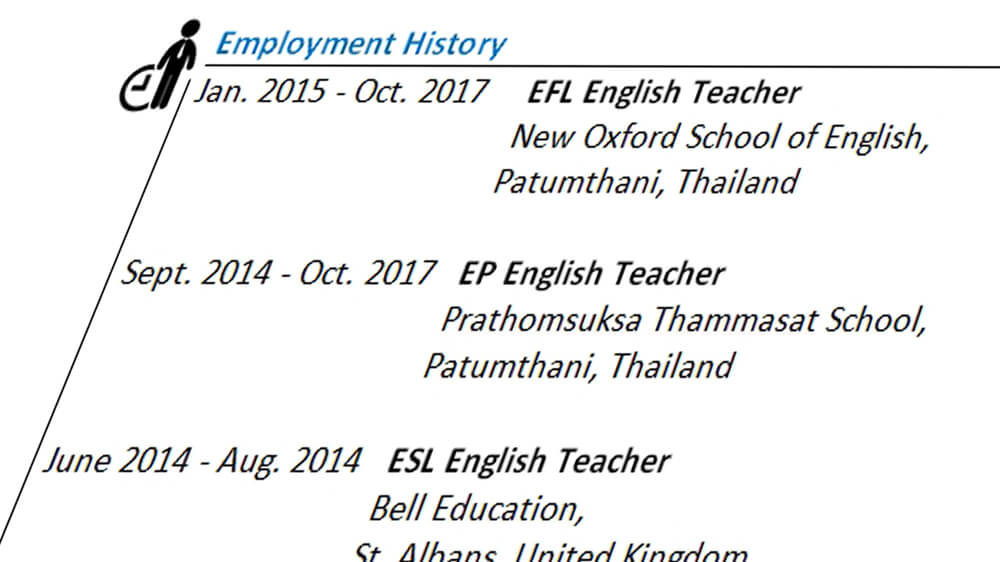 EFL Teacher CV