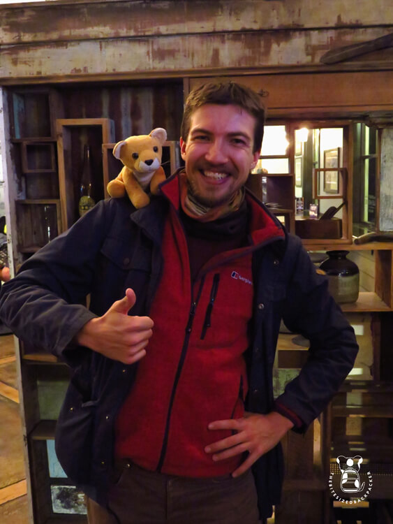Fluffy in Christchurch with Jochem