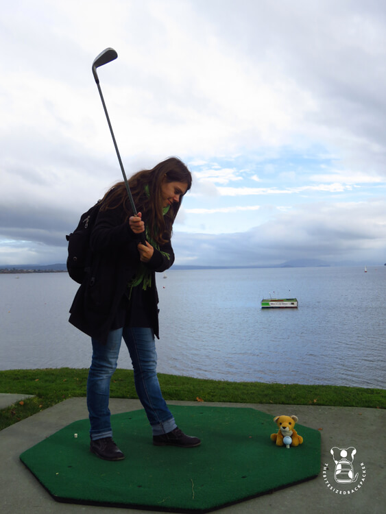 Fluffy in Taupo with Beki