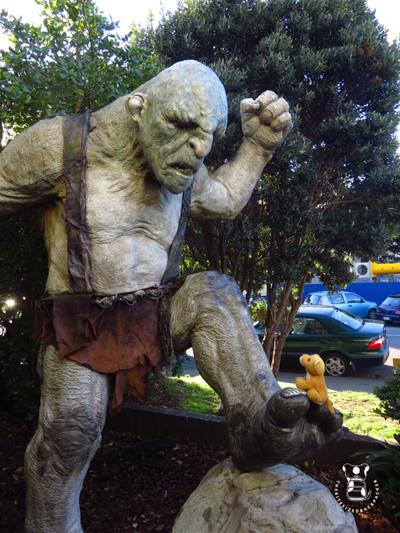 Fluffy in Wellington at the Weta Cave
