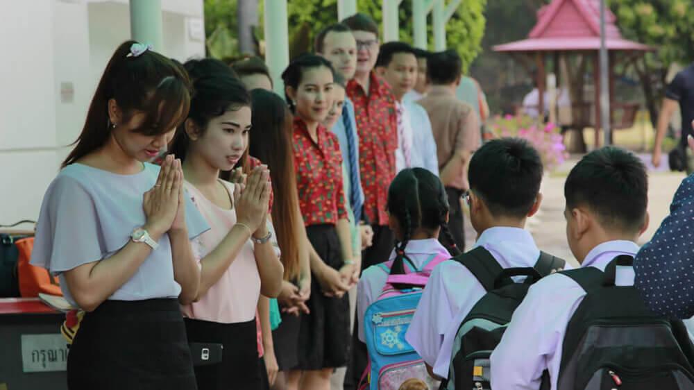 Gate Duty at Thai School