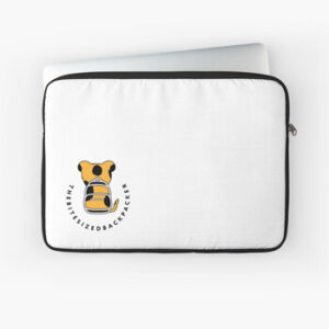 The Bite-Sized Backpacker - Merchandise - Logo Color - Laptop Hoes 01