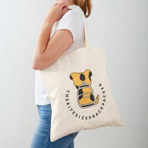 The Bite-Sized Backpacker - Merchandise - Logo Color - Tote Tas
