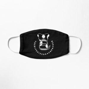 The Bite-Sized Backpacker - Merchandise - Logo White - Mondkapje 01