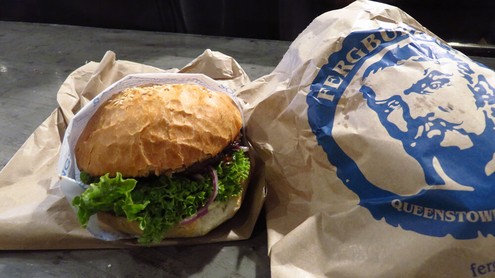 The Fergburger, a Queenstown speciality