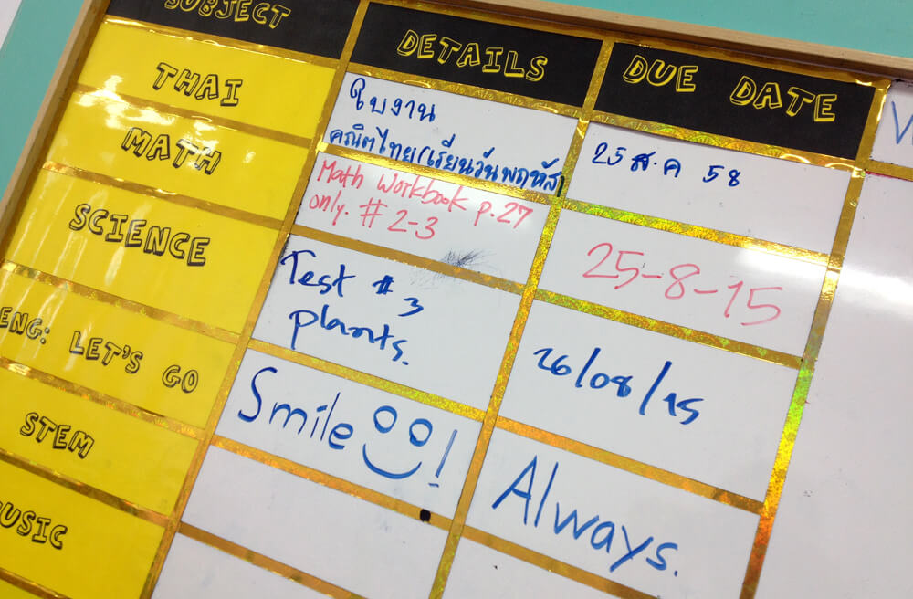 Today's Homework 'Always Smile'