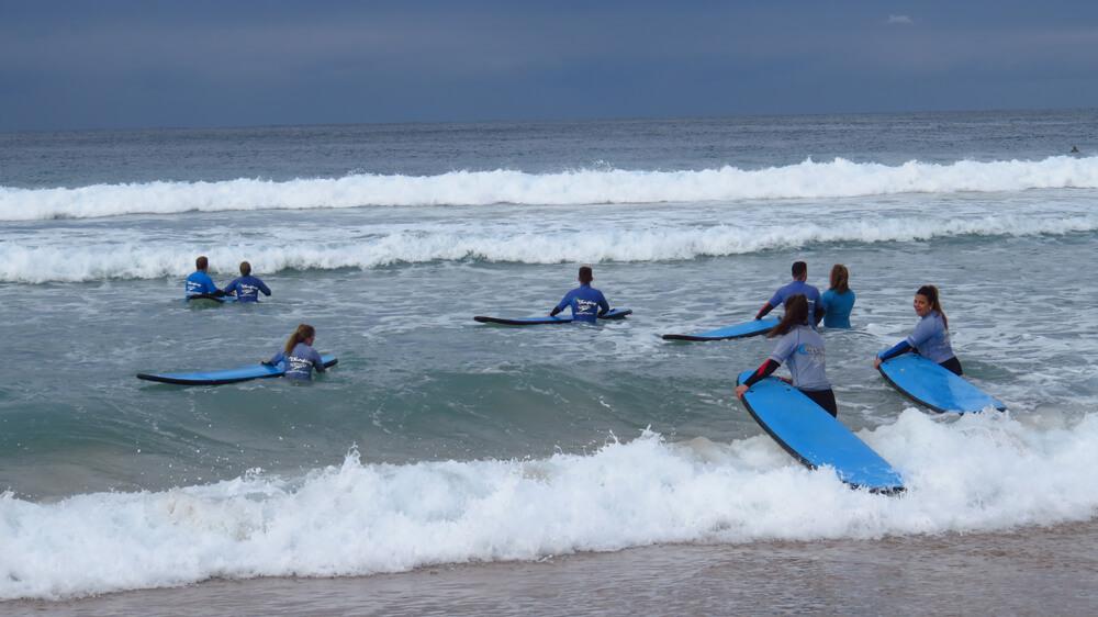 Surflessen op Bondi Beach