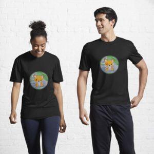 The Bite-Sized Backpacker - Freshy (Background) - Kleding - Active T-Shirt
