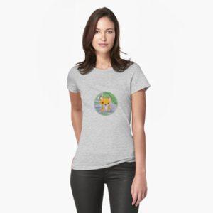 The Bite-Sized Backpacker - Freshy (Background) - Kleding - Fitted T-Shirt