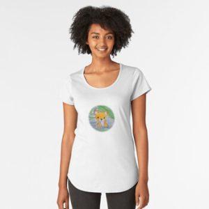 The Bite-Sized Backpacker - Freshy (Background) - Kleding - Premium Scoop T-Shirt