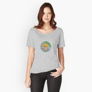 The Bite-Sized Backpacker - Freshy (Background) - Kleding - Relaxed Fit T-Shirt