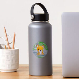 The Bite-Sized Backpacker - Freshy (Background) - Sticker
