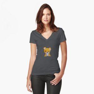 The Bite-Sized Backpacker - Freshy - Kleding - Fitted V-Neck T-Shirt