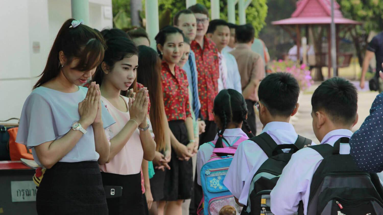 Gate Duty op een Thaise openbare school