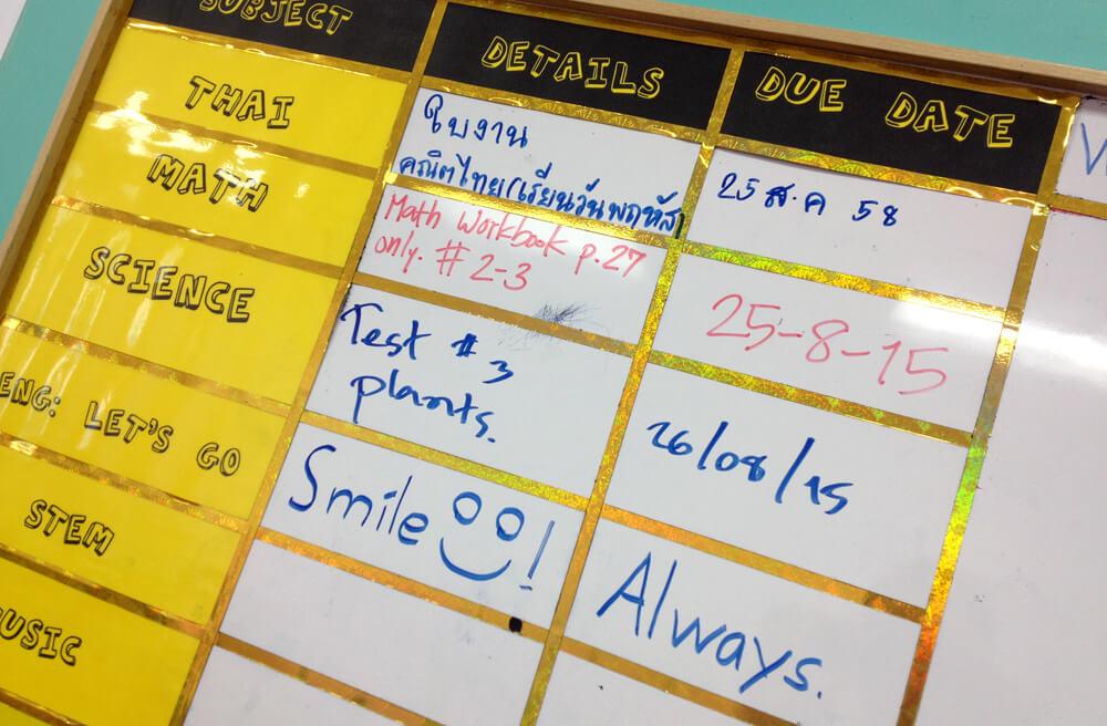 Het huiswerk van vandaag - 'Always Smile'