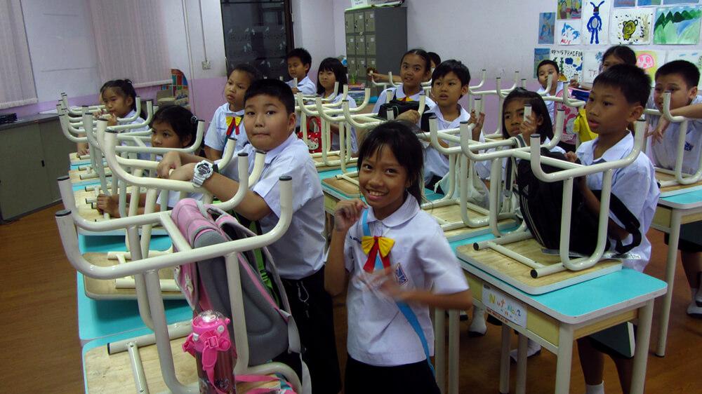 Thaise basisschoolleerlingen